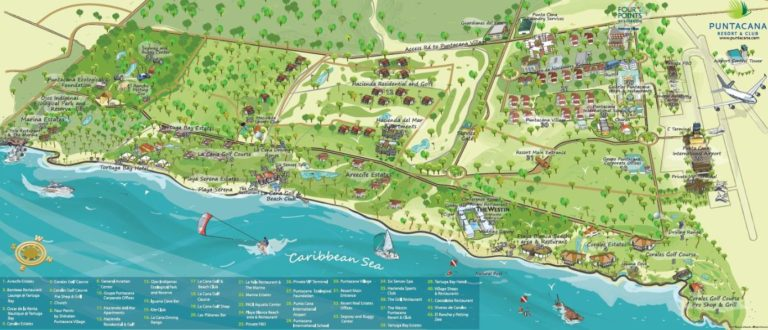Four Points by Sheraton Puntacana resort map