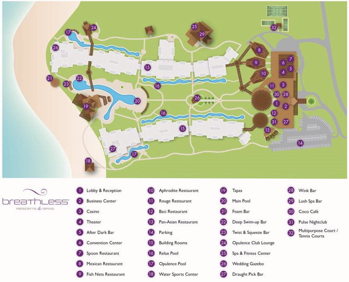 Breathless Punta Cana Resort & Spa map