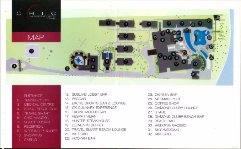 CHIC Punta Cana resort map​