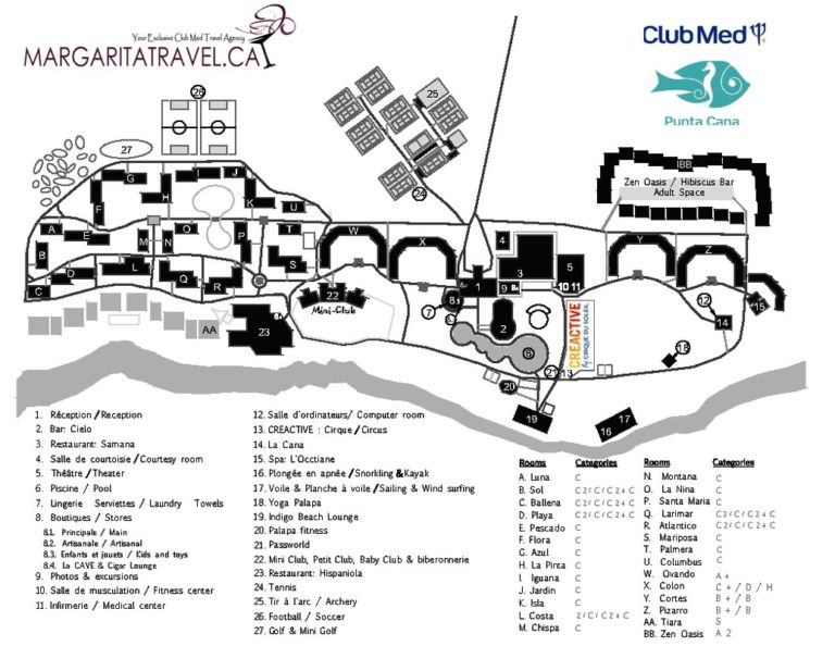 Club Med Punta Cana resort map