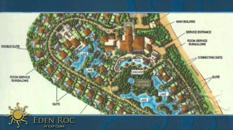 Eden Roc at Cap Cana map