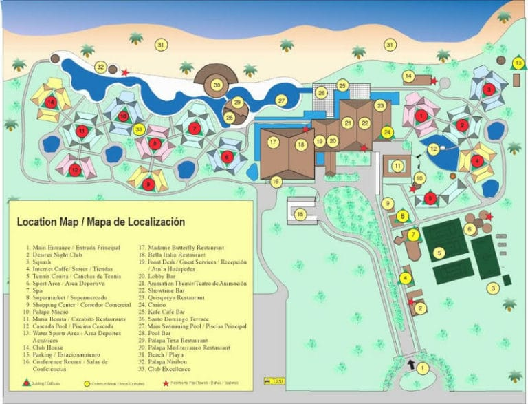 Excellence Punta Cana Resort map