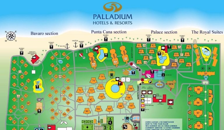 Grand Palladium Bavaro Punta Cana resort map