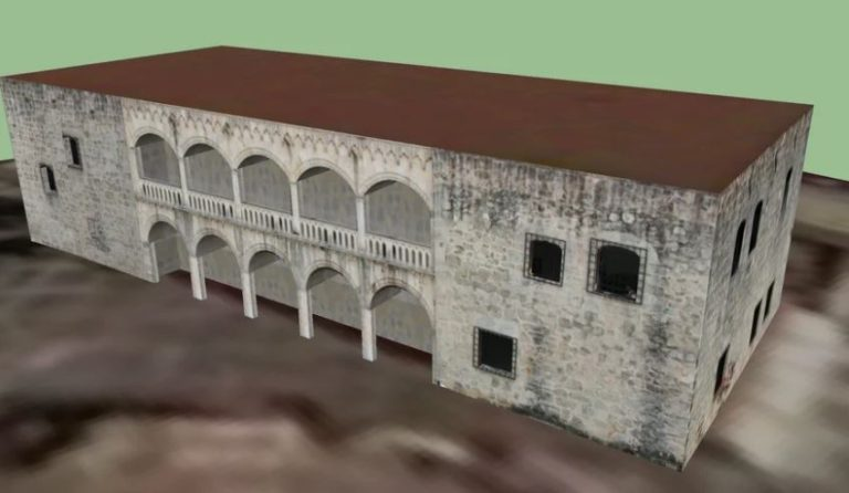 The Alcazar of Diego Colón of Santo Domingo 3D Model