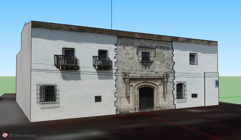 Casa Del Cordón, Colonial City 3D Model