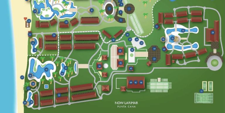 Now Larimar Punta Cana  resort map​