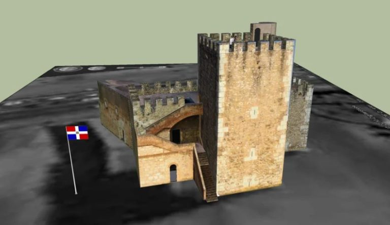 Santo Domingo Fortress 3D Model