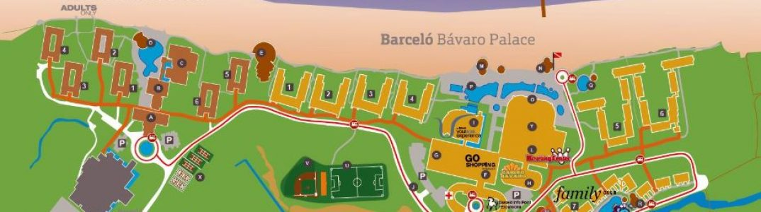 barcelo bavaro punta cana resort map